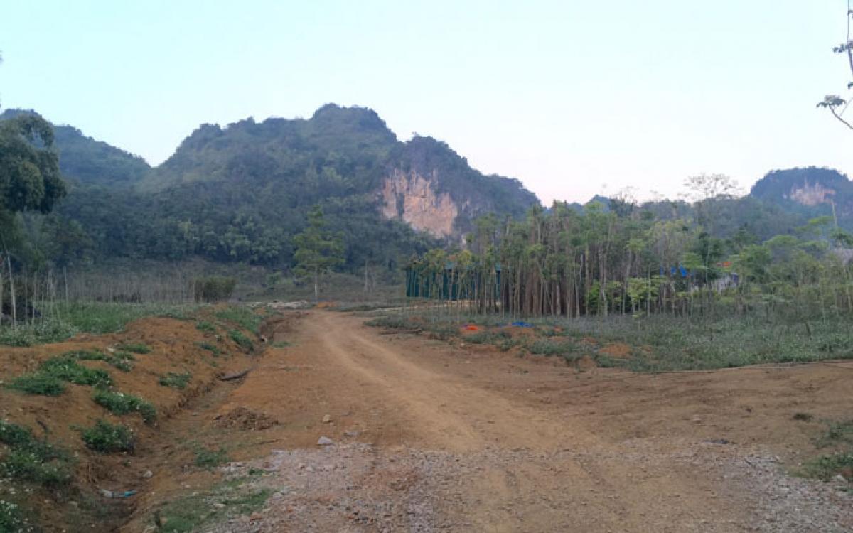 Khu vực Phiêng Khá, bản Buổn - dự kiến là mặt bằng xây dựng nghĩa trang TP Sơn La.