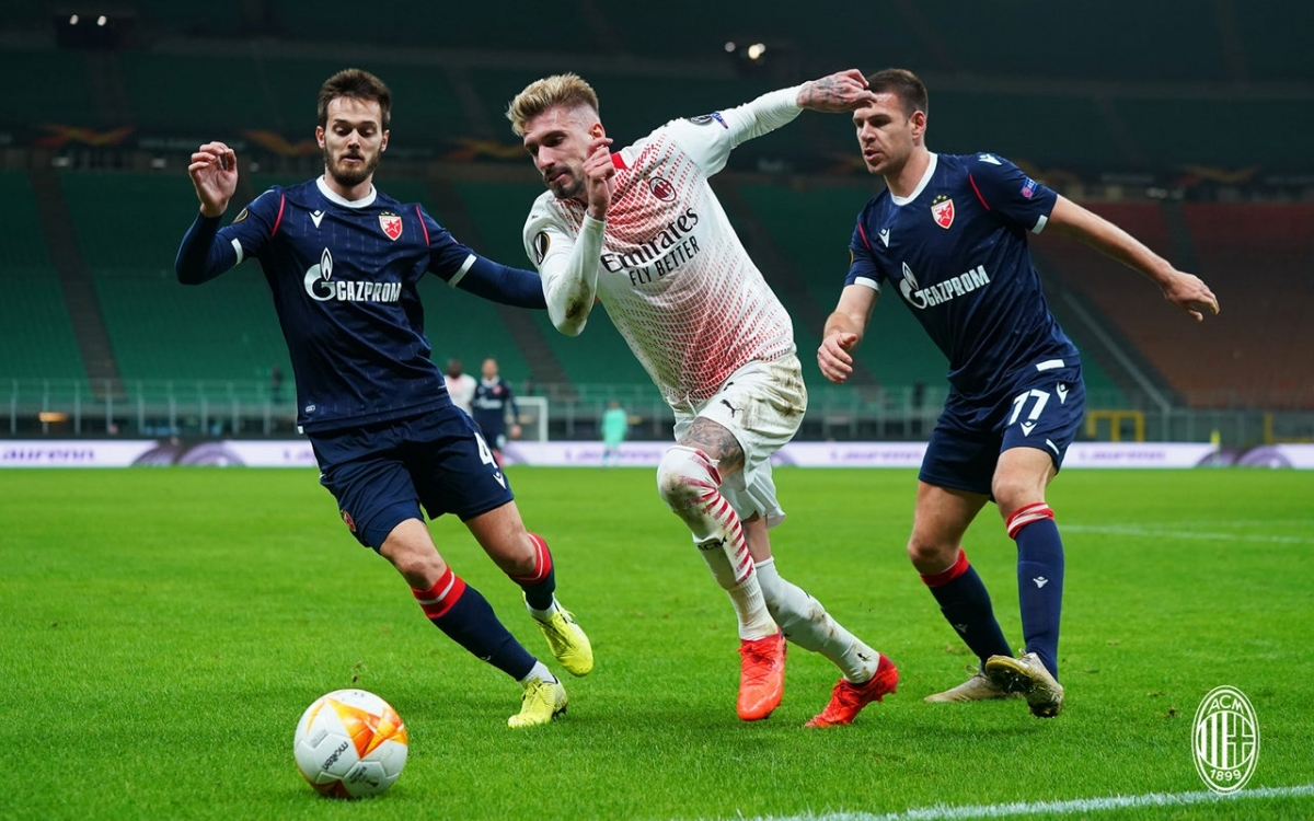 Crvena Zvezda chơi máu lửa và có bàn gỡ hòa 1-1 ở phút Ben Nabouhane 24.