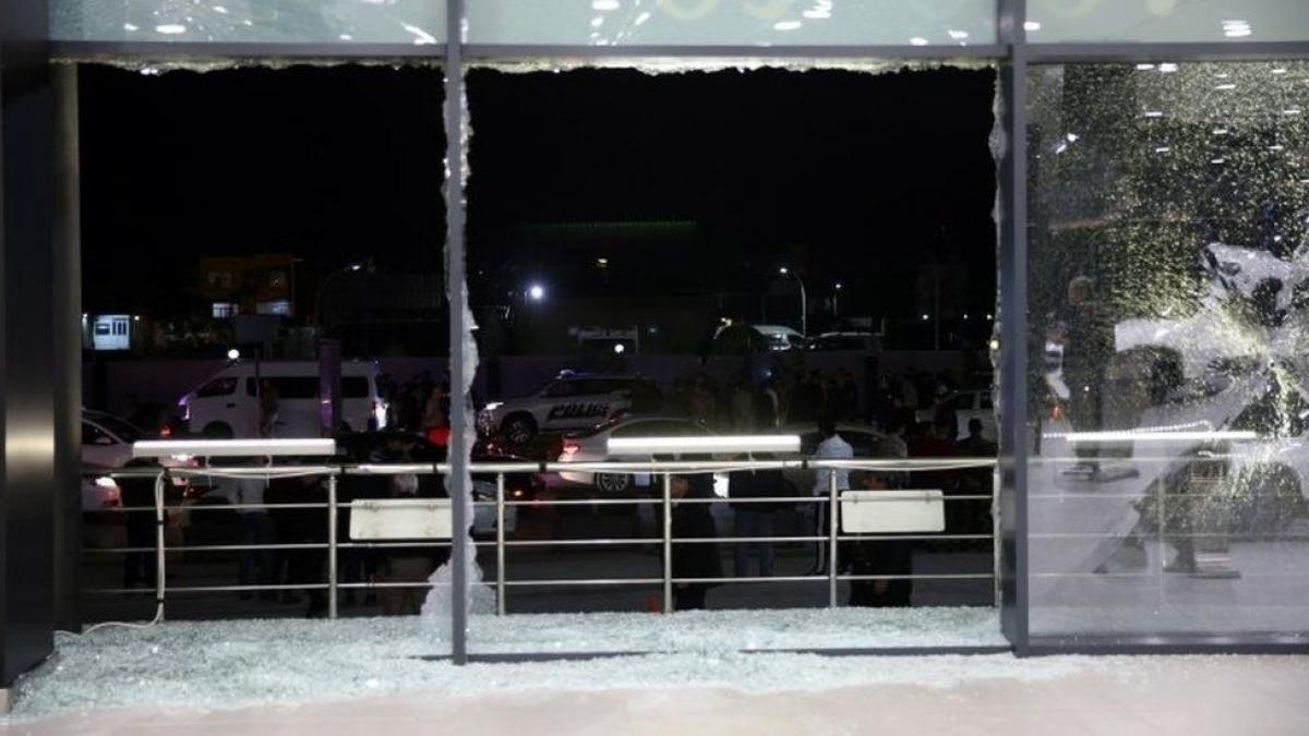 Một mục tiêu ở Erbil, Syria bị tấn công trong cuộc không kishc của Mỹ. Ảnh: BBC.