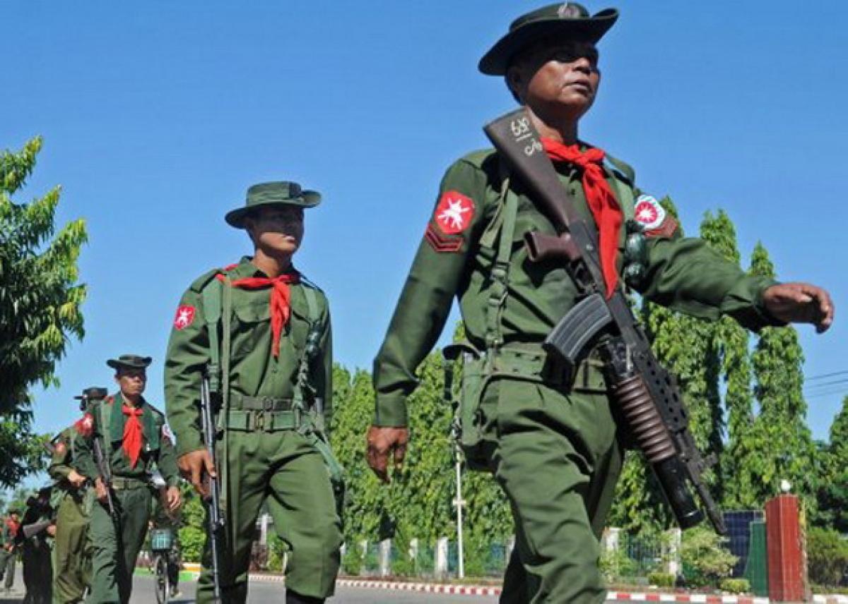 Lực lượng quân đội Myanmar. Nguồn: AP