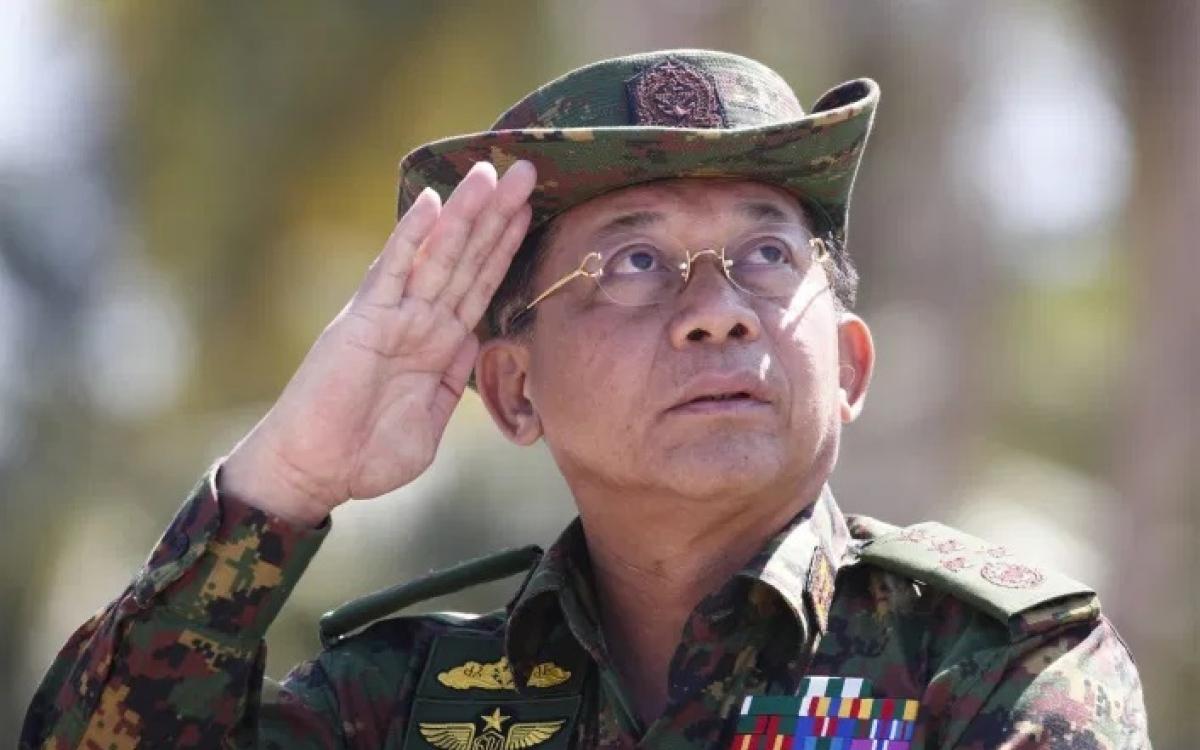 Tổng tư lệnh quân đội Myanmar Min Aung Hlaing. Ảnh: AFP.