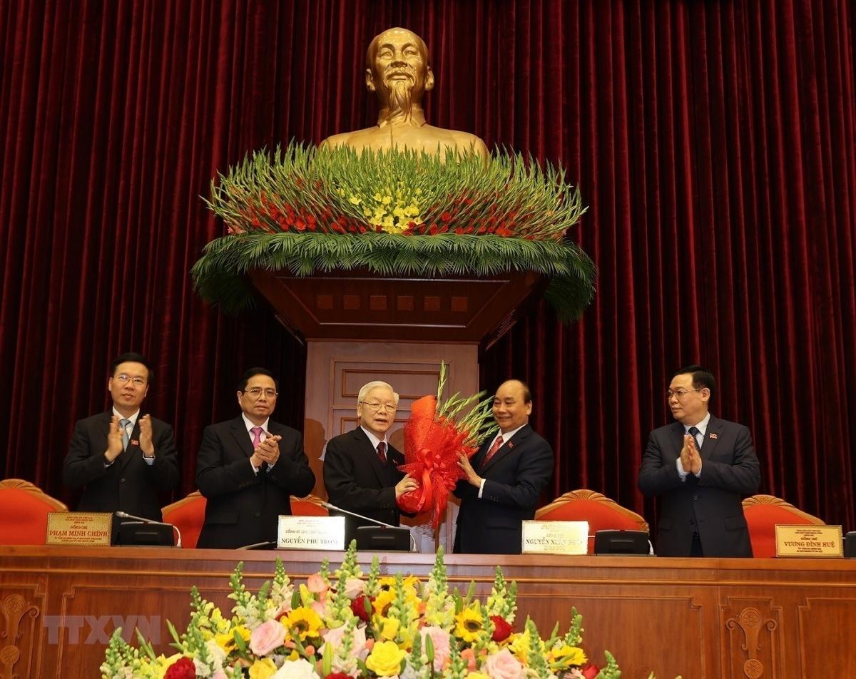 Đồng chí Nguyễn Phú Trọng được bầu làm Tổng Bí thư Ban Chấp hành Trung ương khóa XIII. (Ảnh: TTXVN)