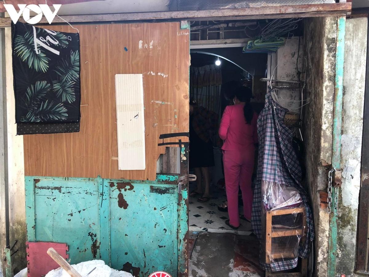 Căn nhà của bị can Hoàng Thị Minh Huyền. (Ảnh: Võ Nam)
