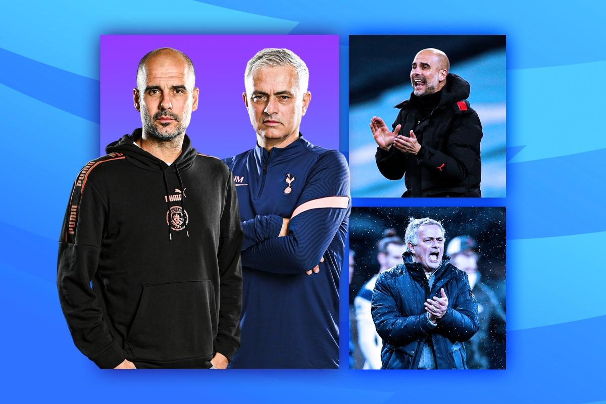 Cuộc đấu trí giữa Pep Guardiola và Jose Mourinho là tâm điểm chú ý vòng 24 Premier League. (Ảnh: EPL)