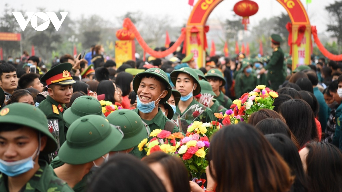 Lễ giao nhận quân năm 2020 của Hà Nội cũng diễn ra trong bối cảnh dịch bệnh Covid-19 (Ảnh: Trọng Phú)