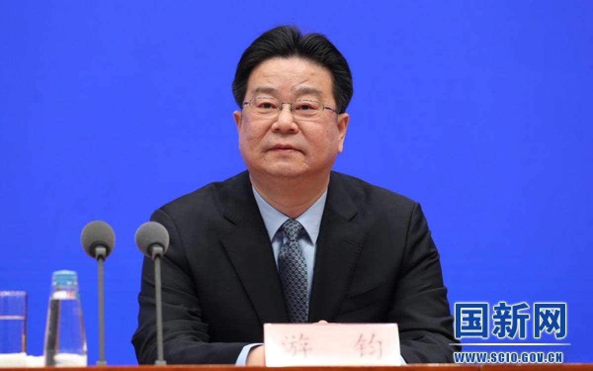 Ông Du Quân, Thứ trưởng Bộ Nguồn nhân lực và An sinh xã hội Trung Quốc. Ảnh: SCIO
