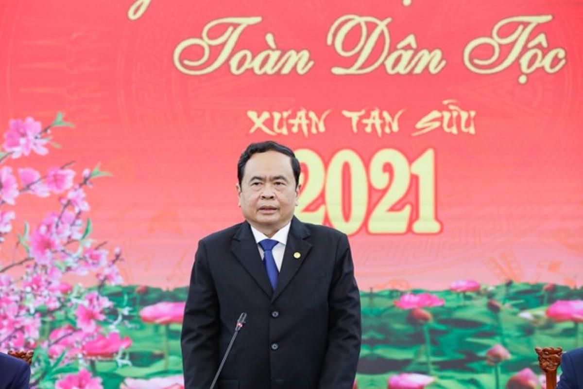 Ông Trần Thanh Mẫn dự Hội nghị gặp mặt ra quân đầu xuân.