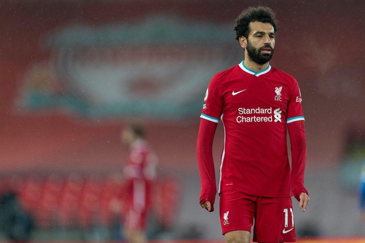 Salah thi đấu dưới sức khiến Liverpool nhận thất bại trước Brighton. (Ảnh: Getty).