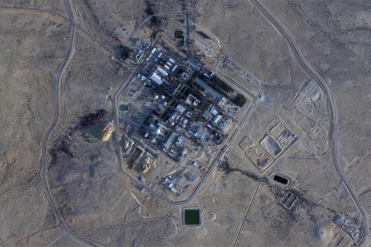 Ảnh vệ tinh chụp cơ sở hạt nhânShimon Peres Negev ngày 22/2. Nguồn: AP.