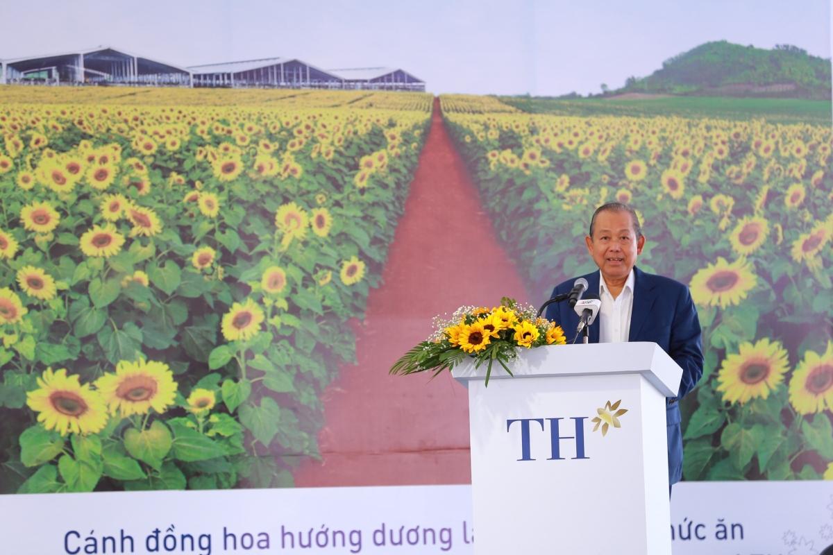 Phó Thủ tướng Trương Hòa Bình phát biểu tại buổi lễ.