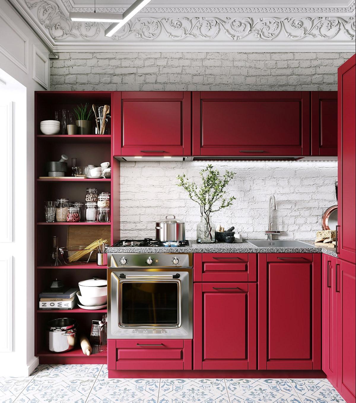 Căm bếp xinh xắn, toát lên vẻ cổ điển, dễ thương, gần gũi./.