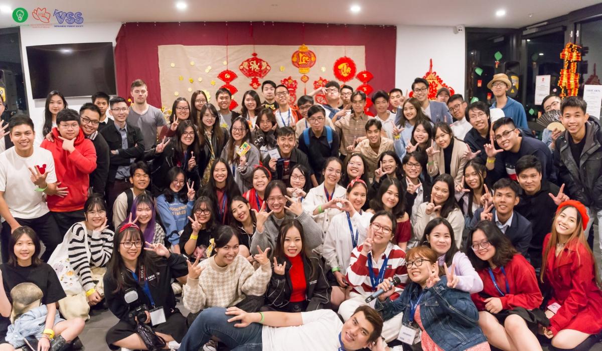 Sinh viên Việt Nam tại bang Nam Australia đón TẾT FES trong không khí đầm ấm. (Ảnh VSS)