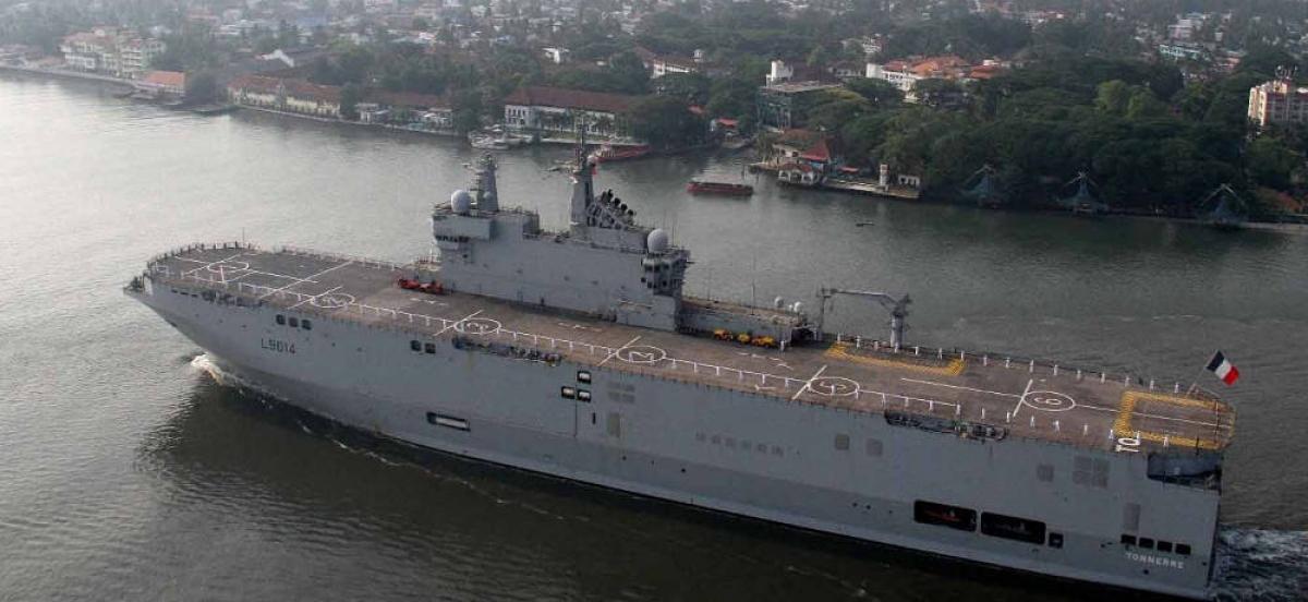 Tàu đổ bộ tấn công Tonnere của Pháp. Ảnh: Wiki