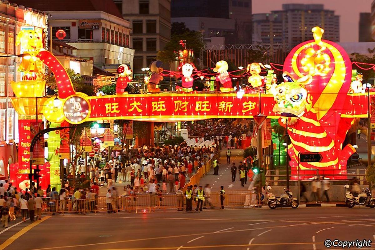 Không khí đón Tết âm lịch tại Singapore. Ảnh minh họa: Pinterest