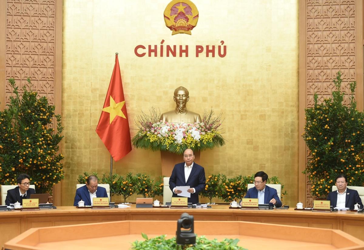 Thủ tướng Nguyễn Xuân Phúc chủ trì phiên họp Chính phủ tháng 1/2021.