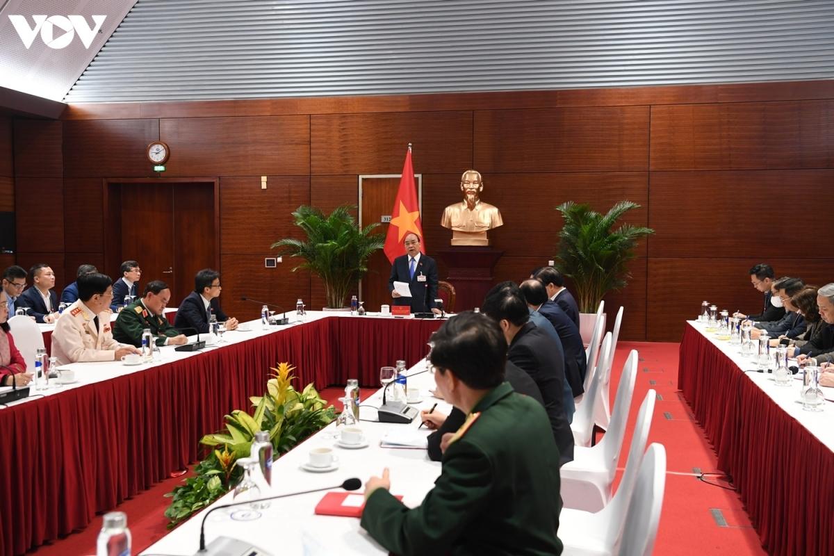 Thủ tướng Nguyễn Xuân Phúc chủ trì cuộc họp khẩn về tình hình dịch Covid-19 vào sáng 28/1 tại Trung tâm Hội nghị Quốc gia