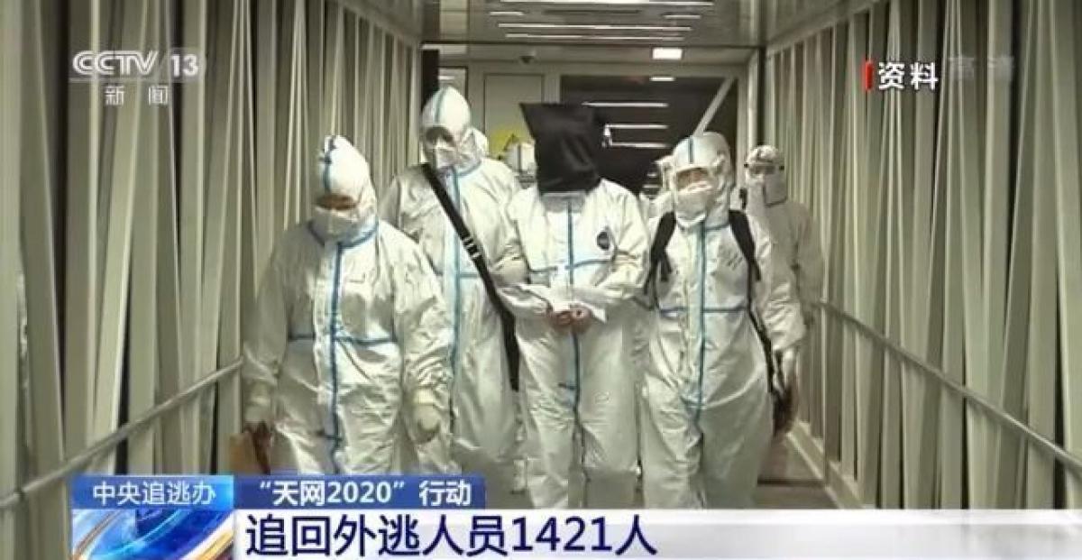 Một đối tượng đào tẩu bị Trung Quốc truy bắt trong năm 2020. Ảnh: CCTV