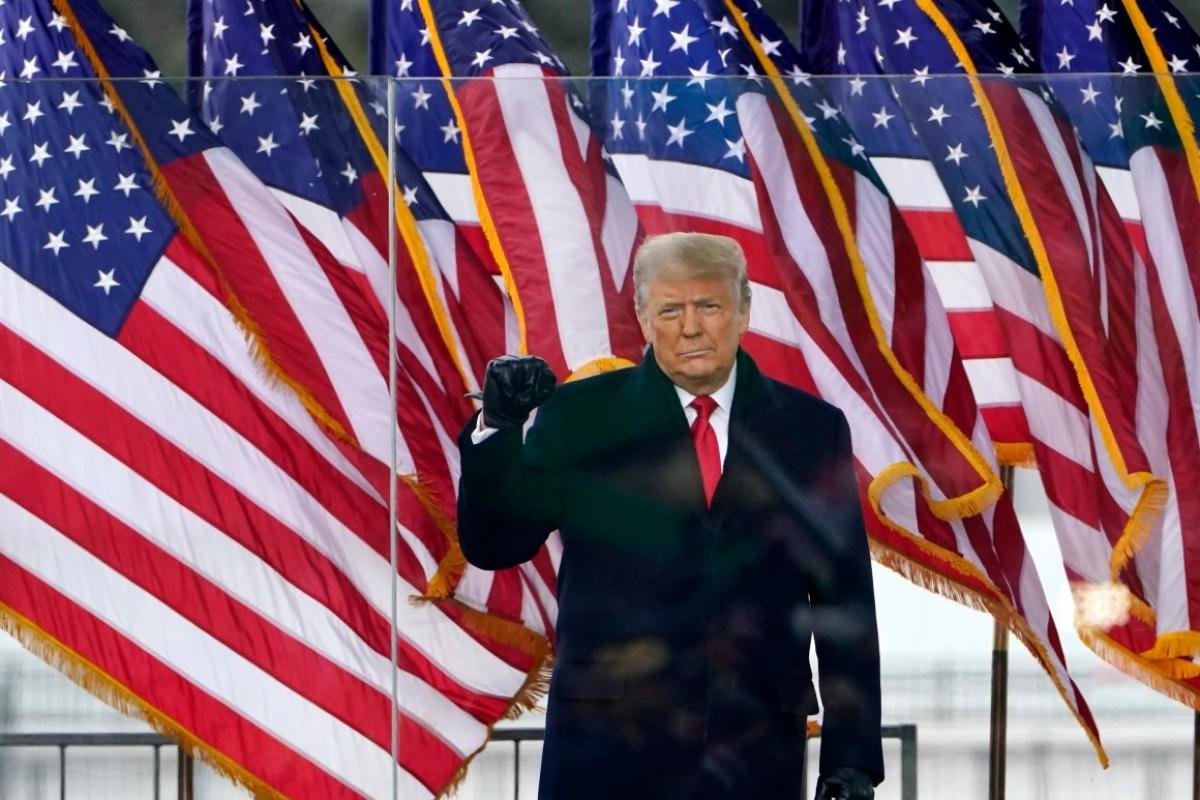 Ông Trump tại cuộc biểu tình ở thủ đô Washington ngày 6/1. Ảnh: Reuters