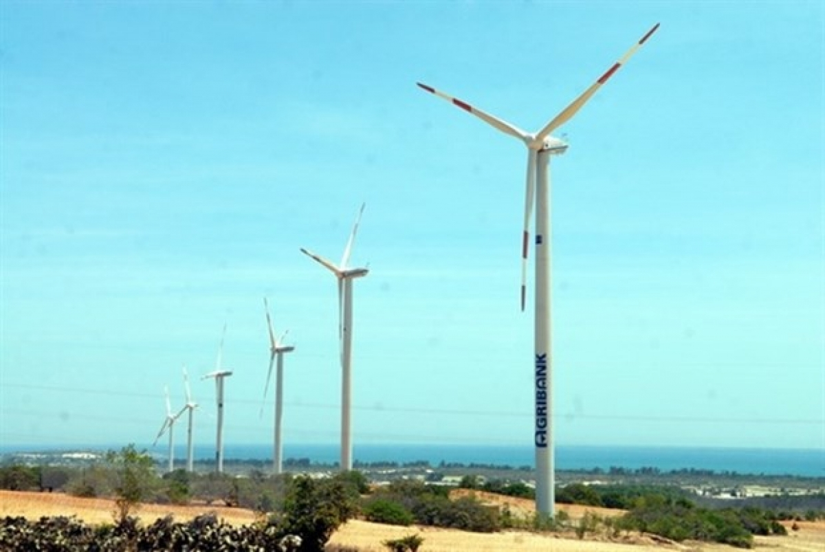 A wind farm in Binh Thuan province