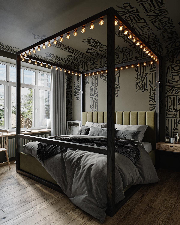 """Giường ngủ ấn tượng với hệ thốngđèn sáng tạo """"có một không hai""""."""