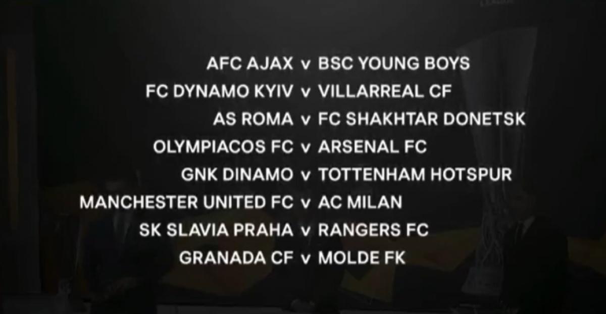 Các cặp đấu chi tiết vòng 1/8 Europa League. (Ảnh: UEFA).