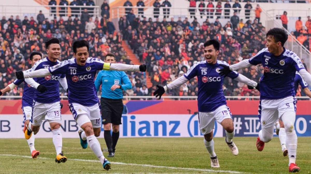 Văn Quyết và các đồng đội ở Hà Nội FC đã có trận đấu xuất sắc ở AFC Champions League ngày này 2 năm trước. (Ảnh: AFC).