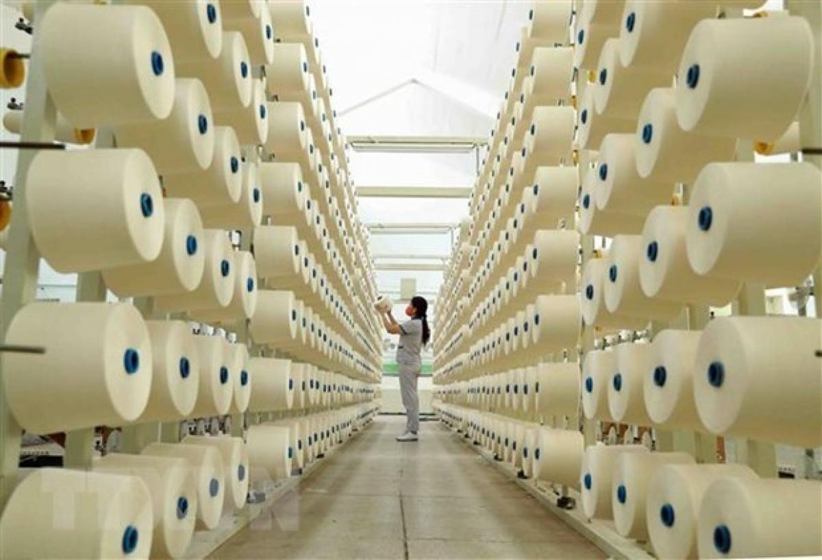 The fibre production line of the Phu Tho Textile Co. Ltd