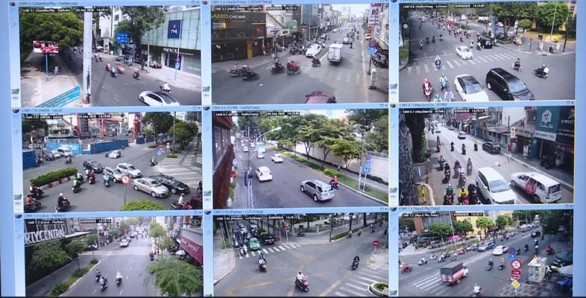 Những phương tiện vi phạm được ghi hình bằng camera cố định.