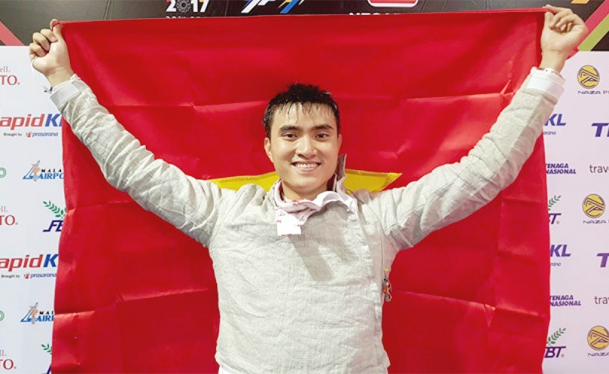 Fencer Vu Thanh An's successful performance at the SEA Games 2019 serves to encourage him to continue competing for a spot at the Tokyo Olympics.
