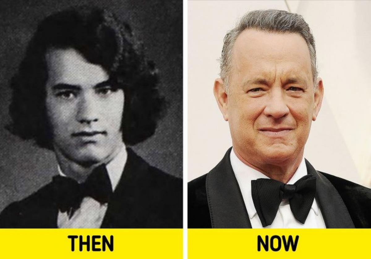 Tài tử gạo cội Tom Hanks có phong cách nghiêm nghị thời trẻ./.
