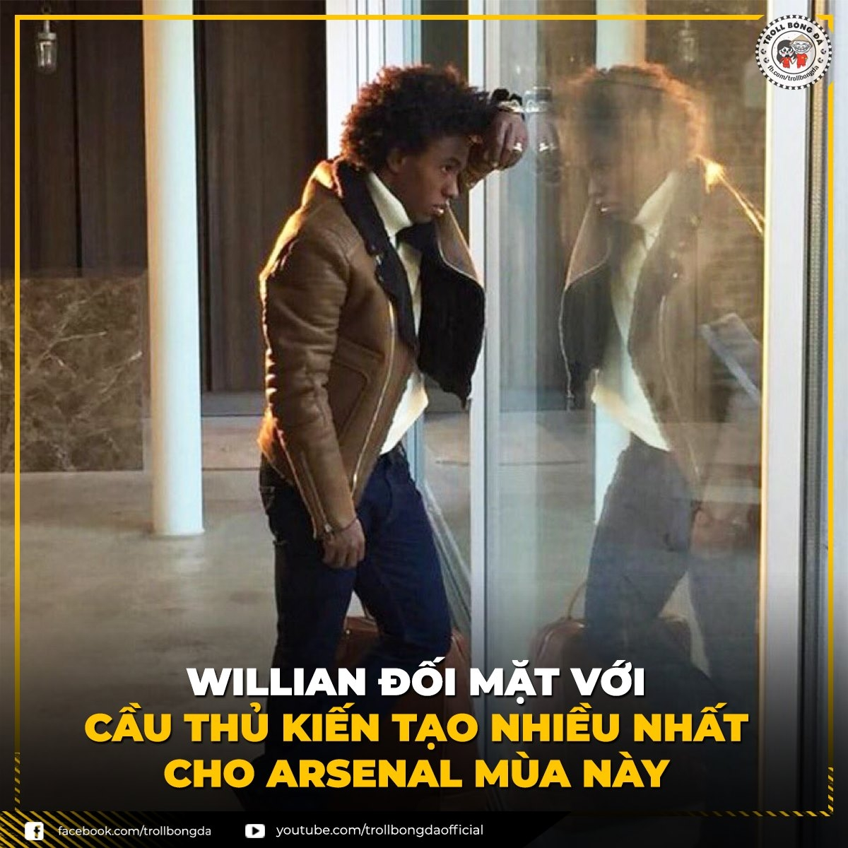 Willian trổ tài dọn cỗ ở Arsenal. (Ảnh: Troll Bóng Đá)