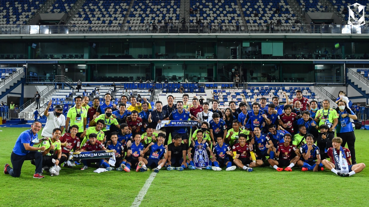 BG Pathum United vô địch Thai League 2020/2021 sớm 6 vòng đấu (Ảnh: BG Pathum United).