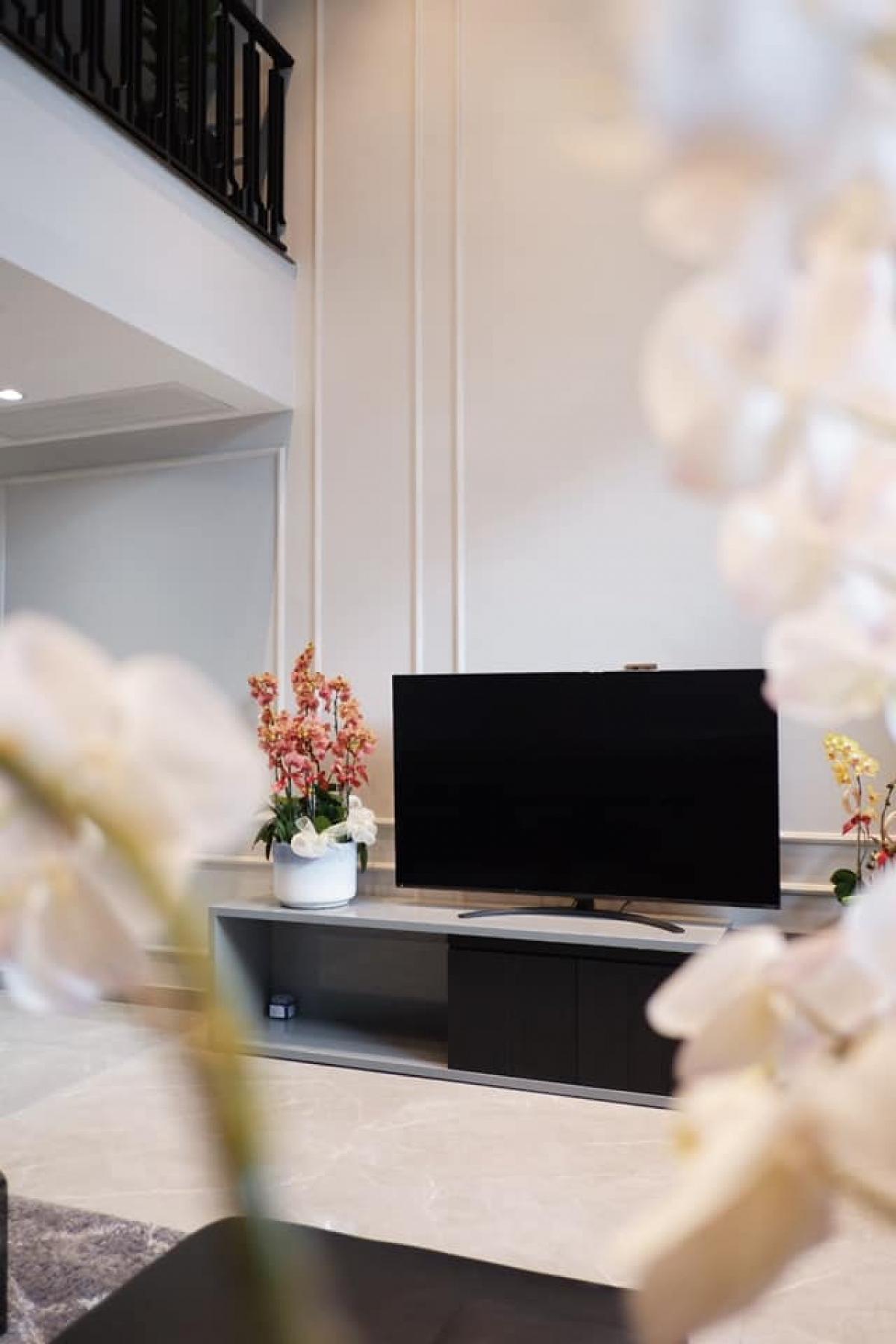 Phòng khách đơn giản, trang nhã với các tông màu cơ bản.