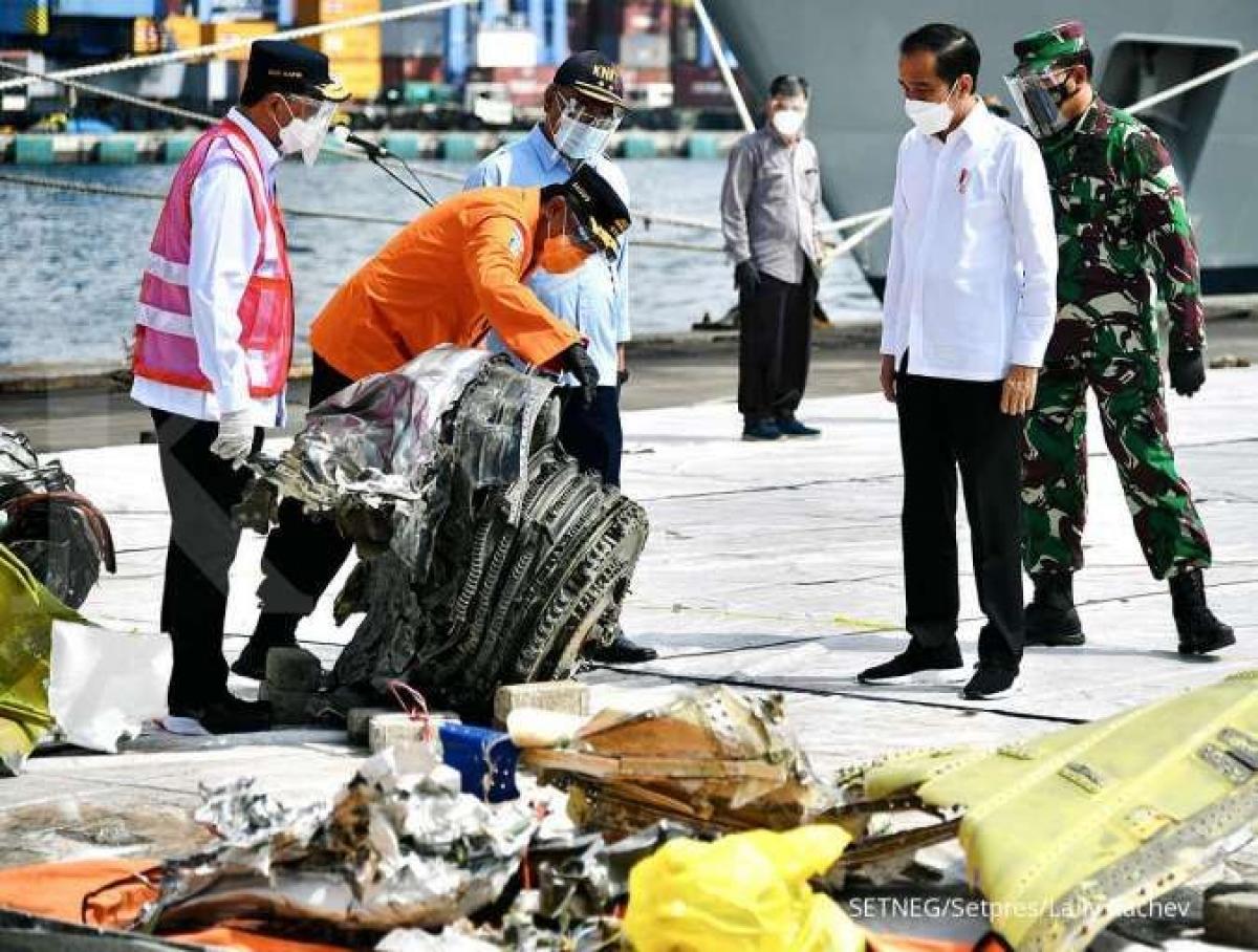 Các mảnh vỡ của máy bay được tìm thấy. (Nguồn: Ban thư ký Tổng thống)