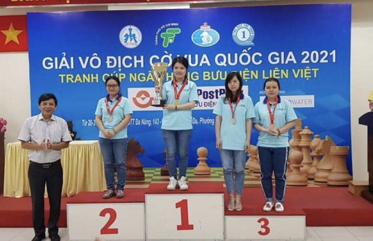 Pham Le Thao Nguyen is the winner in the female category of the National Chess Championships.