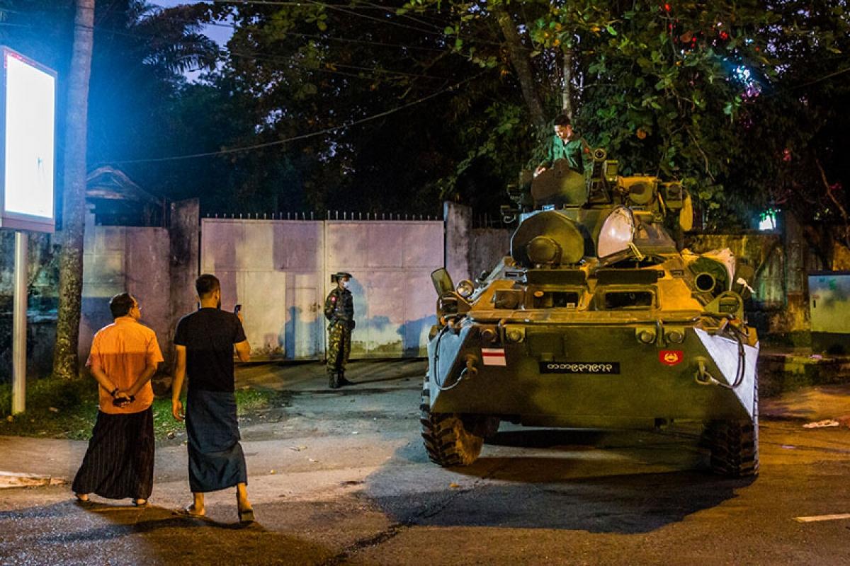 Làn sóng biểu tình lan rộng tại Myanmar kể từ cuộc đảo chính hôm 1/2 - Ảnh: CNN