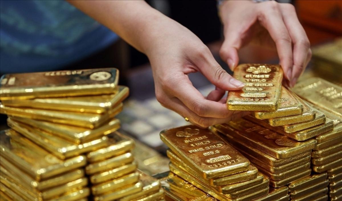 Giá vàng trong nước và thế giới cùng giảm. (Ảnh: KT)