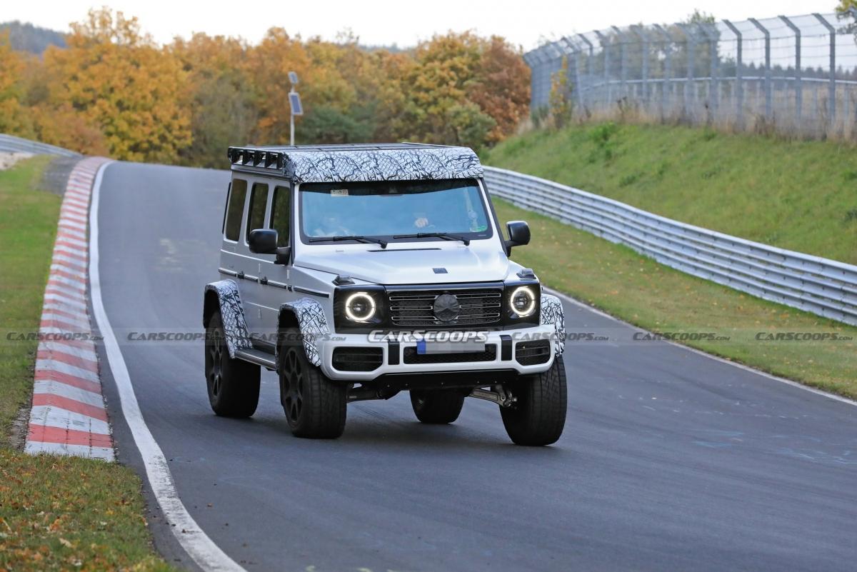 Mercedes-AMG G-Class 4x4 2022 bị chụp trên đường chạy thử.