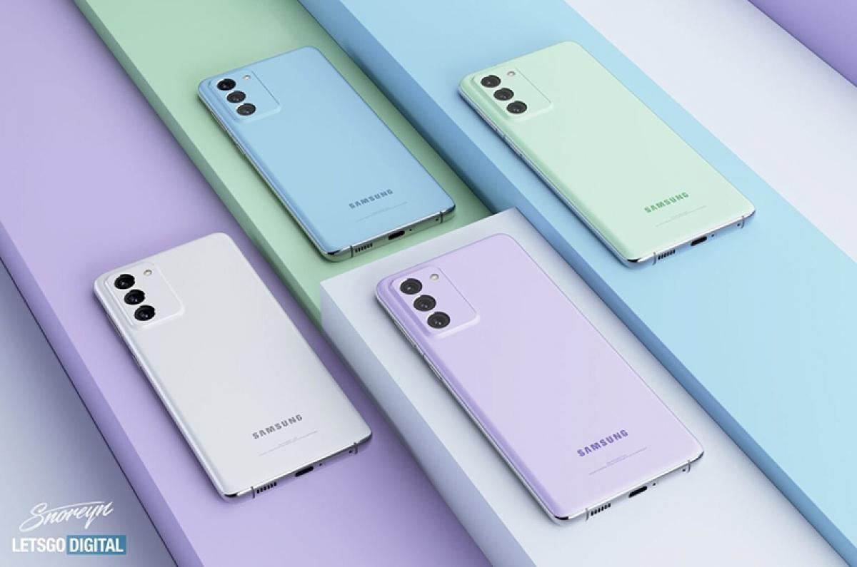 Các màu sắc dự kiến đến với Galaxy S21 FE.