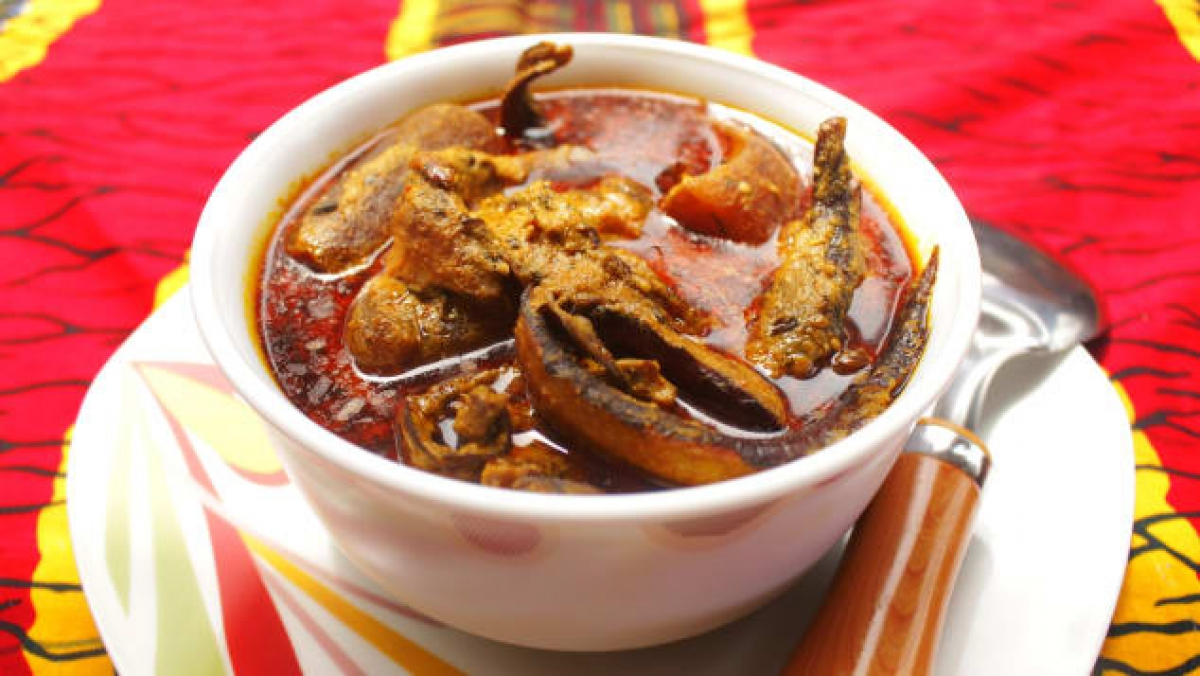 Banga is a Nigerian dish that has also been named among the world's top 20 soups. CNN note that Banga remains so popular in the West African country that shops can often be found selling ready-mixed packets of spice. (Photo: Shutterstock)