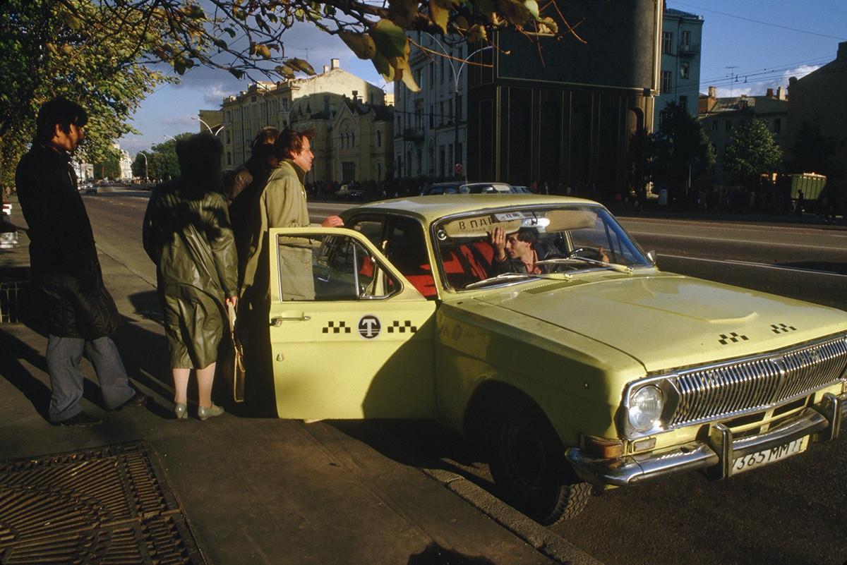 Taxi ở thủ đô Moscow.