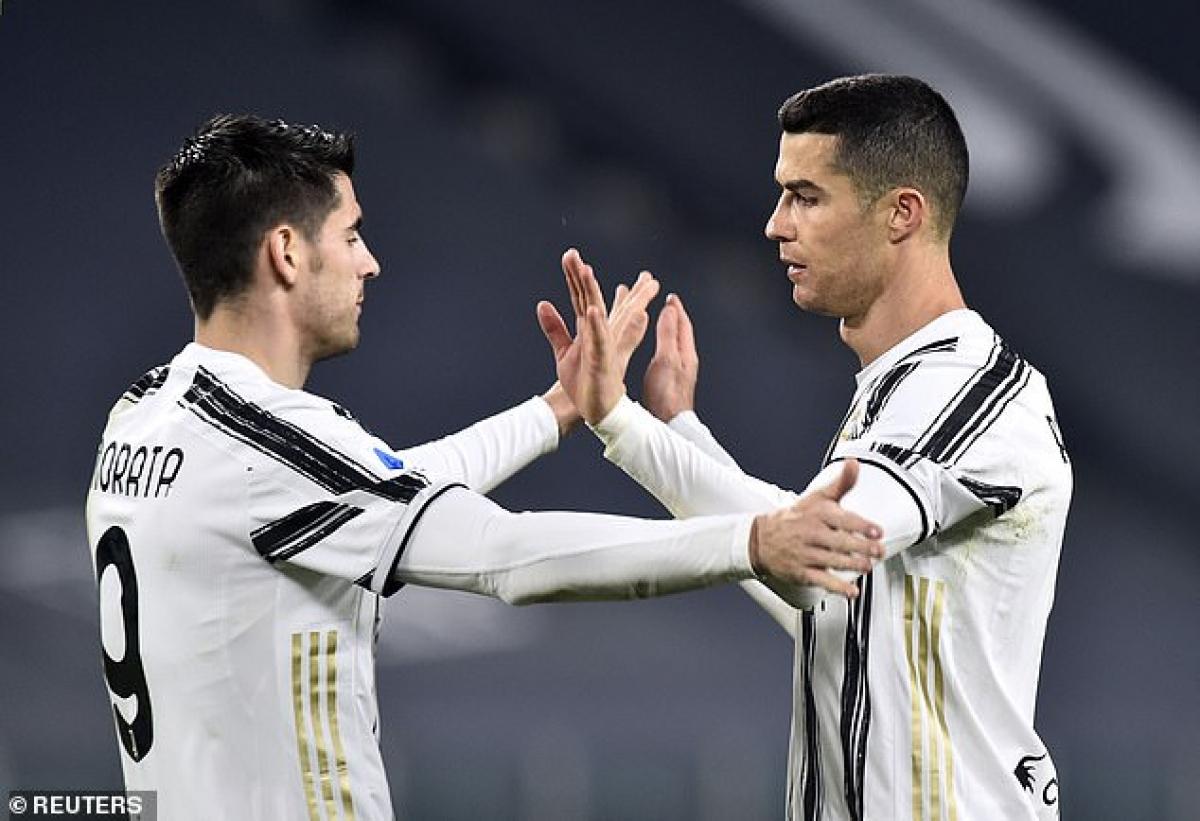 Ronaldo và Morata cùng ghi bàn giúp Juventus có chiến thắng. (Ảnh: Reuters).