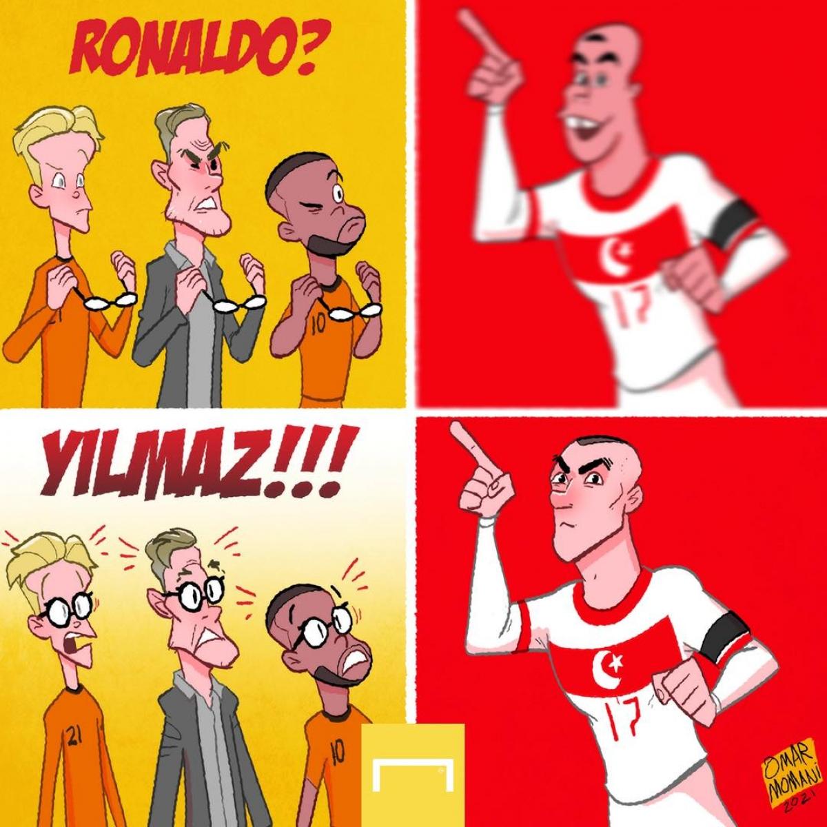 Burak Yilmaz khiến ĐT Hà Lan ôm hận. (Ảnh: GOAL).