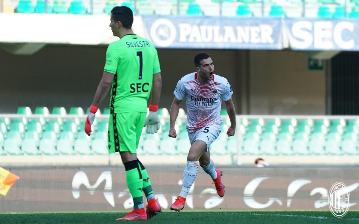 Tác giả bàn thắng ấn định tỷ số 2-0 cho AC Milan là Diogo Dalot với pha đi bóng và dứt điểm đẹp mắt.