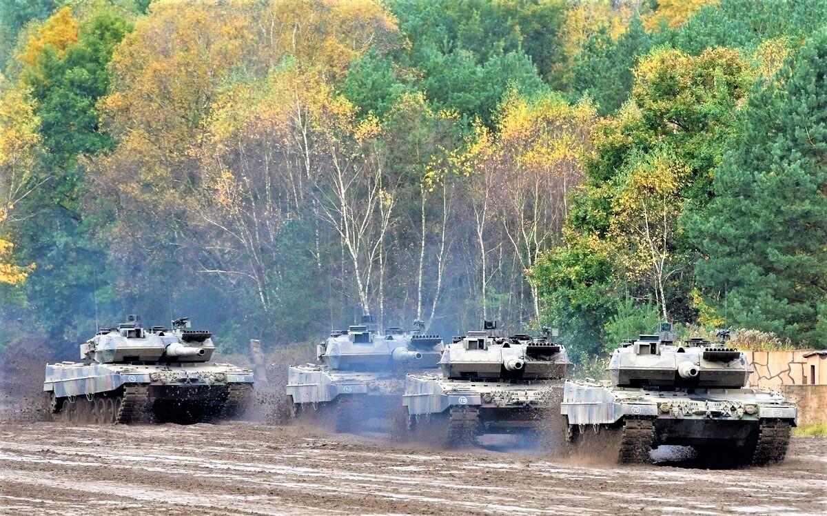 Quân đội Đức chọn phương án dùng APS Trophy để bảo vệ xe tăng chiến đấu chủ lực Leopard 2 của mình; Nguồn: defensenews.com