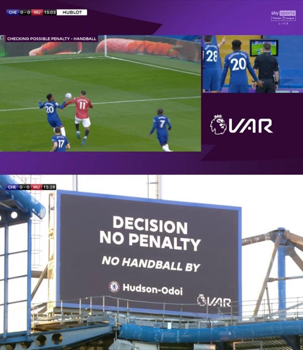 Quyết định của trọng tài Stuart Attwell gây tranh cãi dữ dội và khiến nhiều người cảm thấy khó hiểu về cách xác định lỗi dùng tay chơi bóng.