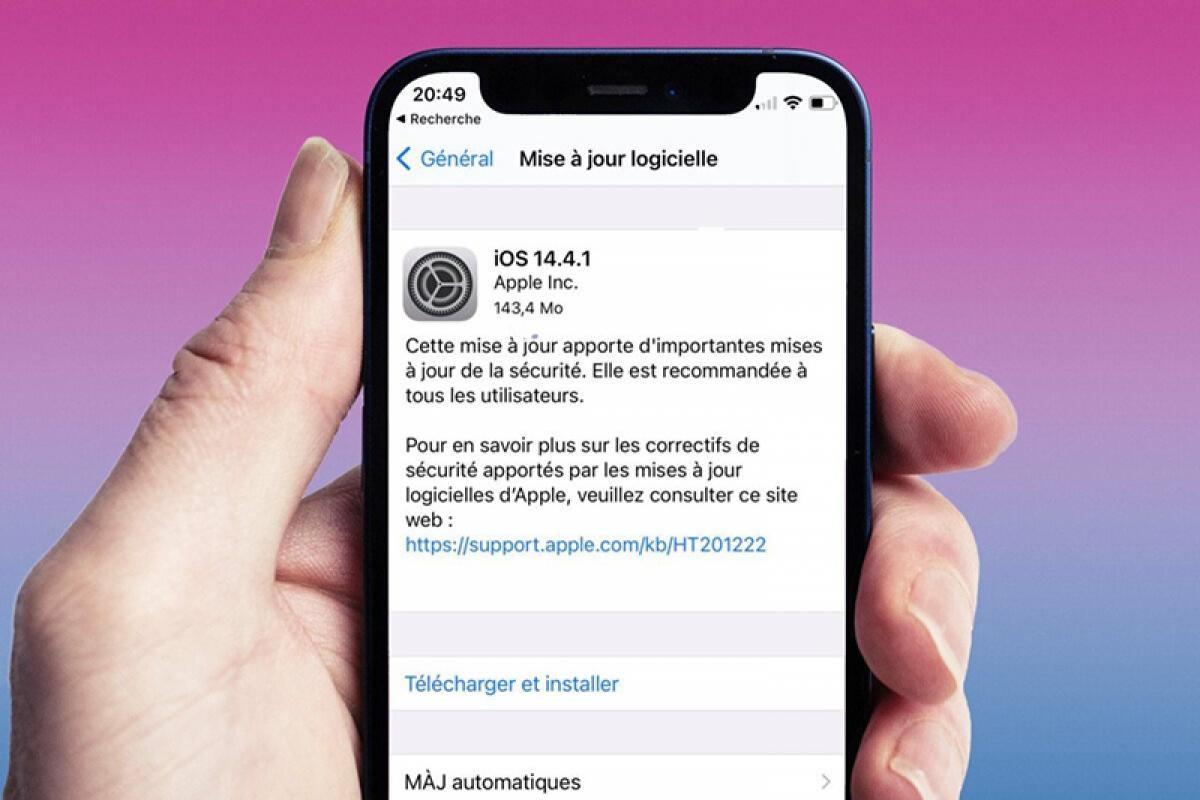 Dung lượng tải về của iOS 14.4.1 rơi vào khoảng hơn 140 MB.