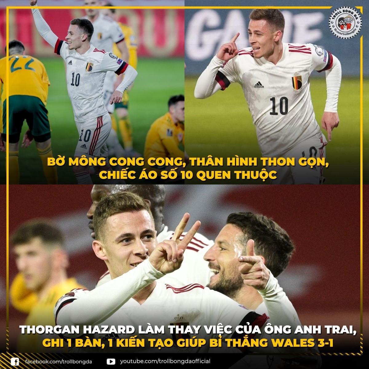 Thorgan Hazard đang thay thế vai trò của người anh Eden Hazard ở ĐT Bỉ. (Ảnh: Troll bóng đá)./.