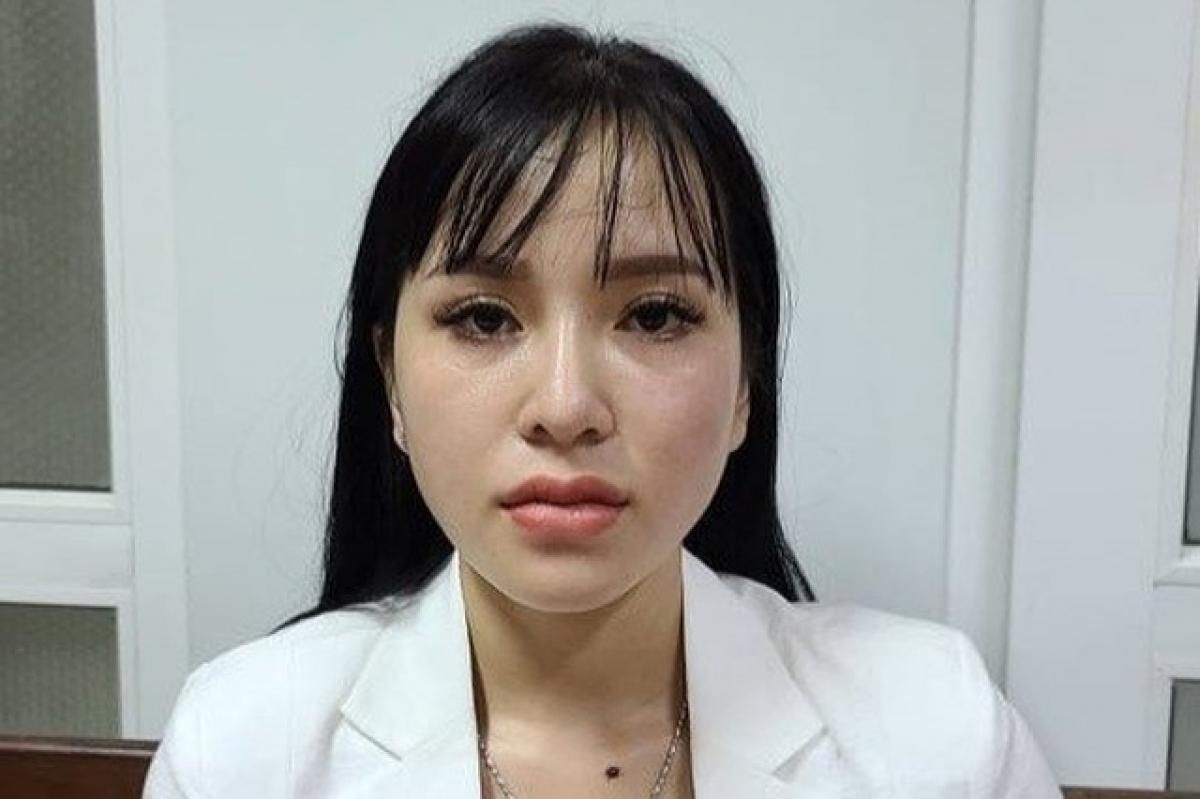Trương Thị Kiều Trang tại cơ quan công an (Ảnh: Công an cung cấp).