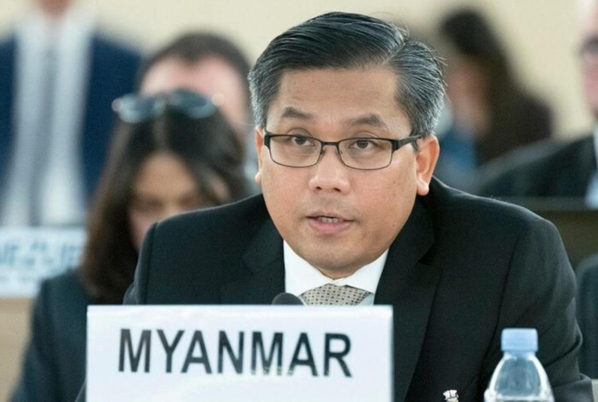Đại sứ Myanmar tại Liên Hợp Quốc Kyaw Moe. Ảnh: Reuters.